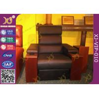 Quality Cinema Room Chairs Home Theater Sectional Couch Pushing Back Recliner Sofa for sale