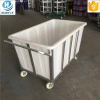 Buy cheap 500litre commercial plastic laundry trolley carts with wheels for line product