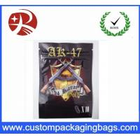 China Plastic Zip Lock Custom Packaging Bags With Tear Tabs , Bizarro Spice Smoke Incense Bag on sale