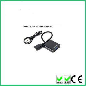 Mâle de la grande vitesse 1080P poids du commerce H DMI au convertisseur de câble femelle d'adaptateur de VGA avec la sortie audio