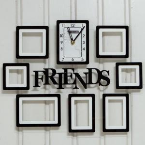 Buy cheap cadre en plastique de photo de noir de cadre de photo avec la vente en gros de cadre de photo d'horloge product