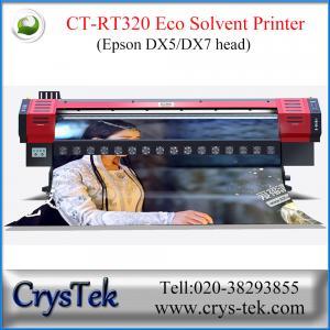 Buy cheap Impresora de chorro de tinta de CrysTek CT-RT320 con la cabeza de impresora dx5 o dx7, 1440dpi de Epson, vinly, flexión, impresión suave-flim product