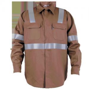 コーヒー炎の隠されたスナップが付いている抵抗力がある仕事着屋外メンズ ジャケット
