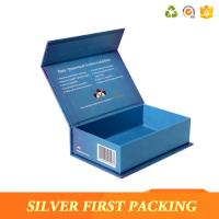 Buy cheap Silver First custom high-top book shape box cardboard flip top box buy from China product