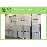 China Anti Curl Clay Coated Kraft Paper , Smooth Cardboard Backing Sheets For Present Case on sale