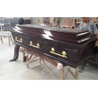 Buy cheap Black Walnut Color Wooden Coffins European Style Exterior Polyester Paint product