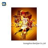 Buy cheap Colorful 3D Poster , 3D Lenticular Picture Poster , Customer Poster Printing For NBA Advertising from wholesalers
