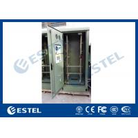 Buy cheap 19 Inch Double Wall Green Outdoor Telecom Cabinet For Wireless Communication Base Station from wholesalers