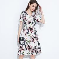 Buy cheap 89D18008 Large Size Summer Fresh And Fashionable Cotton And linen Dress product