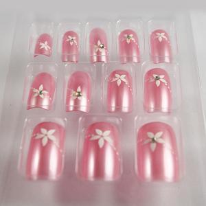Buy cheap le faux rose-clair de salon du diamant 3D cloue l'acrylique fauxde clous/clous faux d'ABS longs product