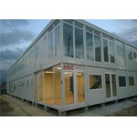 Industrial Flat Pack Container HouseLarge Glass Decoration Flat Pack Prefab House