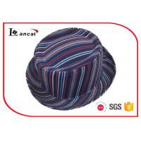 Buy cheap Stripe Style Fedora Ladies Trilby Hats National Flavor Without Band product