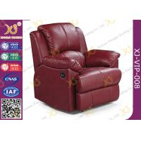 Buy cheap Real Leather Cinema Recliner Chair ,  Home Theater Sofa With Food Tablet product