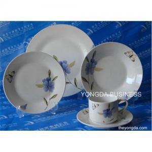 Buy cheap porcelana blanca 30 PC servicio de mesa, sistema de cena product
