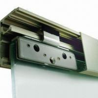 Sliding door system with soft self closing soft self for Sliding door mechanism