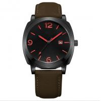 Buy cheap 3ATM Style Quartz Stainless Steel Watch Japan Movement Genuine Leather Band product