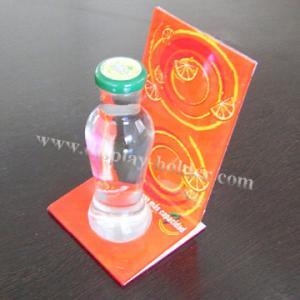 Publicidad del tenedor de botella plástico de acrílico