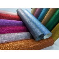 Decoration 50meters One Roll PU Glitter Fabric Synthetic Leather Material With 54 Width