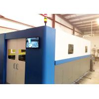 Buy cheap Fiber CNC Laser Cutting Machine with Auotomatic Exchange Table Cover FL-3015-3000W product