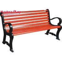 Buy cheap Commercial Grade Weatherproof  3 Seater Outdoor Benches  Resting In Garden Red  Brown product