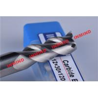 Buy cheap HRC50 8mm / 10mm / 12mm Aluminium End Mill 3 Flute No Coating 45º Helix Angle product