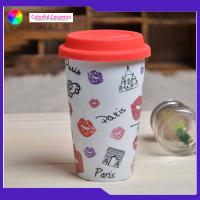 China Double Layer Insulated Ceramic Coffee Mugs Without Handles Silicone Cover on sale