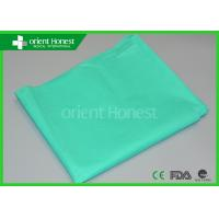 China Light Weight Fitted Hospital Bed Sheets Green Disposable Bed Protectors on sale
