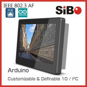 SIBO会議室の命令のためのガラス壁の台紙ブラケットLEDライトが付いている7インチのタブレットQ896