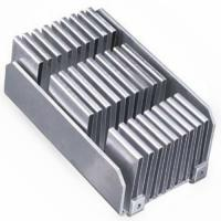 Buy cheap Custom aluminum folded fin soldering heat sink base with nickel plating product