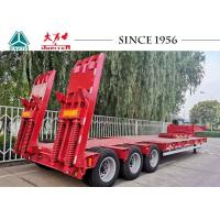 Buy cheap Carbon Steel 3 Axle Low Bed Trailer With Rear Hydraulic Ramp Spring Ramp from wholesalers
