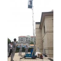 Buy cheap 8 M Aluminium Alloy Single Mast Aerial Lift Platform Aerial Platform Lift Man lift product