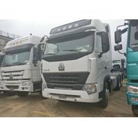 China A7 HOWO Tractor Truck , LHD 6x4 Prime Mover Euro2 420 HP Two Berth 12.00R20 Tire on sale
