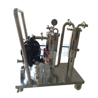 Buy cheap V Clamp 300Psi 0.5 Micron Liquid Filtration Machine product