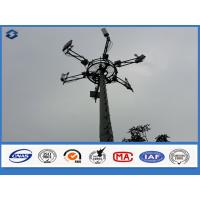 Buy cheap 3mm Monopole Telecommunication Tower powerline poles , long life span electric post from wholesalers