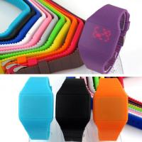 Buy cheap DWG Silicone Digital Watch , Thin Silicone Touch Screen Watch Customized Color product
