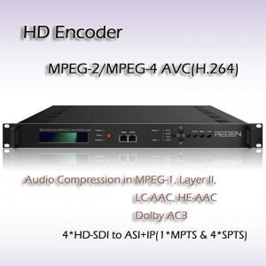 China Digital TV headend MPEG-2/H.264 HD Encoder Input interface: 4*HD-SDI IPTV Encoder on sale