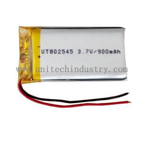 Buy cheap Batterie de haute qualité de lipo de la batterie 802545 3.7V 900mAh de polymère de lithium de Rechargable product