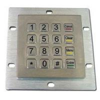 Buy cheap Self Service Kiosk Metal Encrypted Pin Pad Stainless Steel Numeric Keypad product