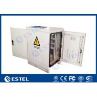 Buy cheap IP55 22U Outdoor Communication Cabinets Single Layer With Front / Back Door from wholesalers