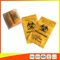China Laboratory Biohazard Specimen Transport Bags Reclosable 3/4 Layer Yellow Color wholesale