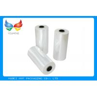 Buy cheap 78% Shrinkage 40MIC Clear PET Plastic Shrink Film For Shrink Sleeve Labels Material product