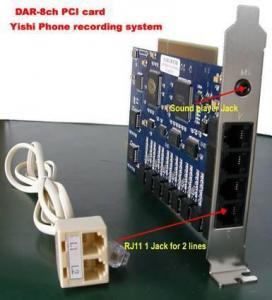Buy cheap Enregistreur de téléphone de DAR-R8 8CH avec le produit de sécurité de SDK/audio product