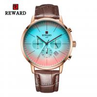 Quality Chinese wholeasale 45mm big dial black leather strap mens metal watches for sale