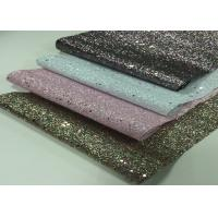 Buy cheap Shoes making material PU glitter artificial factory price synthetic leather from wholesalers