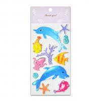 Buy cheap Sea Fish Glitter Epoxy And Paper Stickers Handmade 3D Two Layers High Quality from wholesalers