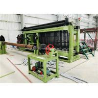 Buy cheap Fully Automatic Wire Coiling Machine , 100x120mm Gabion Mesh Machine PLC Control Simple Install product