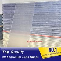 Buy cheap Injekt print / UV print material 75LPI 0.45mm Lenticular Lens Sheet material with good Lenticular Printing Effect product