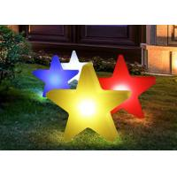 Buy cheap Star Shape Wedding Decorative Outdoor Led Pillar Lights Battery Powder 1 Year Warranty product