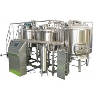 Buy cheap Volume 700L 3 Vessel Brewing System Steam Heating Brewhouse For Beer Making from wholesalers