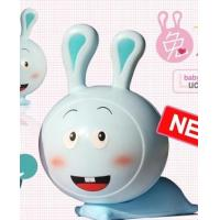 China The new year lucky Bunny Rabbit blue small night light lamp on sale